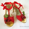 01 golden to red sandals with cherries remake